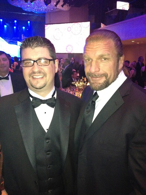 Triple H at Toys R Us Black Tie Event