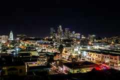 LA from Chinatown (Javier Clift?) Tags: longexposure skyline night photography la losangeles streetphotography lightstreaks streetsofla laskyline javierclift