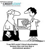 Funny HR Manager (CreditLoan.com) Tags: funny jobs cartoon hiring jokes hr