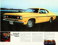 1970 Plymouth Valiant Duster 340ci coupe (Rickster G) Tags: 1969 ads 1974 1971 flyer 60s plymouth convertible literature transit duster 70s valiant 1970 hemi mopar twister sales 1972 brochure rapid 440 1973 rallye musclecar compact 340 426 383 4406 sixbarrel scatpack