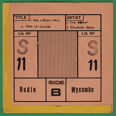 Radio Wycombe record library sleeve (Leo Reynolds) Tags: canon eos iso100 vinyl cover single record 60mm f80 disc sleeve platter 45rpm 7inch 0125sec 40d hpexif 033ev xleol30x xxx2013xxx