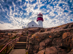 To the Lighthouse (RobertCross1 (off and on)) Tags: lighthouse norway clouds landscape norge europe day cloudy steps bluesky olympus omd lindesnesfyr em5 microfourthirds 1250mmf3563mzuiko