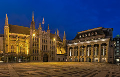 City of London Guildhall Exterior at dusk