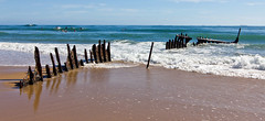 SS Dicky wreck series (3 photos) (NettyA) Tags: beach water sand waves australia surfing pacificocean qld queensland surfers sunshinecoast ssdicky dickybeach seqld