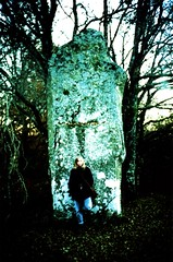 At The Menhir Of Ceinturat With Tam (Ludovic Macioszczyk Photography) Tags: at the menhir lomo lca 135 kodak elite chrome 100 iso cross processed blue tam limoges ludovic macioszczyk analog photography film pellicule photo photographie argentique keep alive ludos photographs france life shoot art picture world photographe m 2013 cieux monts blond ceinturat 87 weekend lomography sunday 35mm light xpro camera lo fi toy contrasts winter girl minitar 128 32mm exposure outside hair blonde négatif développement scan vintage appareil polychrome lumière vie ©