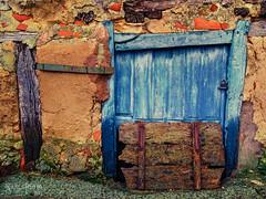 Old Blue Door (Xarls R.) Tags: door wood old espaa window rural ventana spain puerta madera village pueblo viejo burgos castillaylen ags vision:text=0546 vision:sky=052 vision:outdoor=0807
