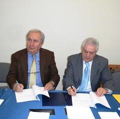 Protocollo d'intesa Futuridea-Gal Molise vero il 2000 ( Carmine Nardone-Eldo Fierro, presidente Gal)