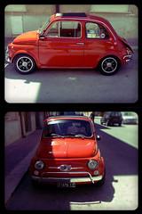 Fiat 500 Giannini Rossa (OldLens24) Tags: auto verde sport fiat 500 custom tuning sicilia giannini corsa trapani mela napola 595 raduno lega elaborazione 590 modifica cerchioni