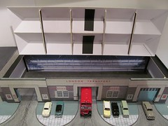 Hornchurch bus garage (kingsway john) Tags: underground railway london model 176 scale oo gauge train tube londontransportmodel bus diorama miniature