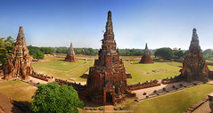 Wat Chaiwatthanaram (On The Top) Ayutthaya Province : Thailand