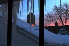 Winter Just Outside My Window (mastodont) Tags: winter snow rooftop sunrise february chimneydpphdrtool