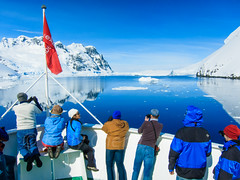Antarctica S90-111124-090 (Kelly Cheng) Tags: travel blue sea white mountain color colour tourism nature sunshine horizontal landscape daylight colorful day outdoor transport vivid sunny antarctica bluesky iceberg colourful copyspace seacape traveldestinations antarcticpeninsula lemairechannel