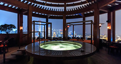 Pool with a view - Shanghai (Maria_Globetrotter) Tags: world china travel blue roof panorama hot tourism pool beautiful by skyline bar night canon river relax observation point photo high amazing cool twilight december view shanghai angle image harbour pov top district interior wide perspective pic landmark icon aerial jacuzzi most hour frame hyatt cbd pudong financial  coolest vue kina bund cina chine 2012  flod chiny rootop szanghaj 650d 1585 img1647 witn coolestbarintheworld angay coolshanghai mariaglobetrotter