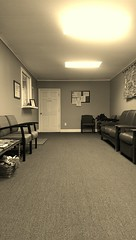 waiting room (jojoannabanana) Tags: monochrome chairs empty doctor webster waitingroom