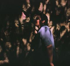 Tepozteco Wall (David A Crdova M) Tags: trip viaje light shadow film luz analog 35mm contraluz arbol pared persona photography photo lomo lomography foto stones picture sombra diana contraste pelicula fotografia dianaf rocas tepoztlan piedras rollo lomografia analogo dianamini davidacordovam