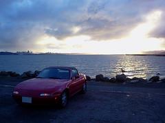 My Miata (Mr Pika) Tags: convertible backlit mazda miata mx5 roadster eunos redconvertible redsportscar