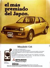 Mitsubishi Colt 1982 - Hoy (Chile), 1982 Enero (RiveraNotario) Tags: mitsubishi mitsubishicolt ads carads printads avisos avisosdeautos advertising publicidad chile chile1982 1982 autos cars riveranotario