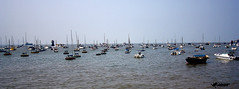 Boats in Arabian Sea (s_learner) Tags: sea india boats arabian mumbai