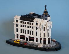 Edificio Metrpolis (  MolochBaal ) Tags: madrid architecture lego gran metropolis va