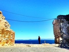 Watching Europe II (GrusiaKot) Tags: man watching morocco marocco medina tanger kasbah tangers tangeri марокко lesalonbleu uploaded:by=flickrmobile colorvibefilter flickriosapp:filter=colorvibe танжир