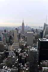 Manhattan (larique) Tags: nyc travel winter newyork unitedstates manhattan rockefellercenter empirestate bigapple topoftherock