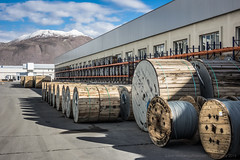 20150204 Turkey DSC02418.jpg (PowderPhotography) Tags: metal drums factory sony angles visit cables copper february aluminium 2015 rx100