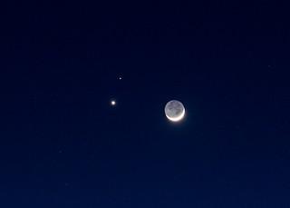 Venus, Mars, and the Moon. Feb 20, 2015.