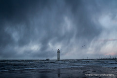 Perch Rock (*Richard Cooper *) Tags: new sea irish lighthouse weather rock brighton perch wallasey wirral merseyside