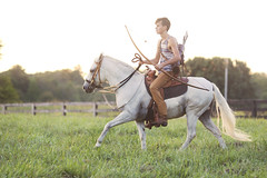 4T3A4338 (Mary Anne Morgan) Tags: horses silhouettes adventure warrior youngman horsebackriding longbow pasofinohorses