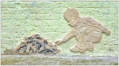 Graffiti (Chinagirl Tile), North London, England. (Joseph O'Malley64) Tags: vienna uk england sculpture streetart art tile ceramic austria urbanart tiles sculptures northlondon chinagirl reliefsculpture chinagirltile