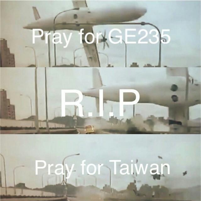 向偉大的機長致敬 謝謝你盡力把傷害降到了最低  不要放棄任何希望 讓我們一起祈禱🙏 #GE235 #B22816 #PrayForTaiwan #復興航空