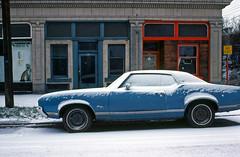 Cold Cutlass - Vancouver - January 1978 (POP SNAP) Tags: vancouver 1978 kodachrome nikkormat