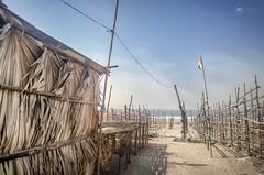 Palma Choza (Sid da' Cool) Tags: india beach sand flag bamboo maharashtra palma choza navapur palmachoza