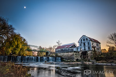 Falls of Rough - Mill (AP Imagery) Tags: bridge sunset moon mill golf falls resort flour grist greenfarm roughriver fallsofrough