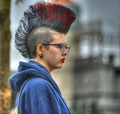 Wild Hair Day (Scott 97006) Tags: public look image lipstick attention gender hairdoo
