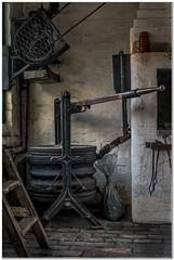 The Bellows & red tea pot (Hugh Stanton) Tags: victorian teapot motor bellows