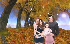 Autumn Family Love (sabbywasabee) Tags: family autumn fall sl secondlife familyphoto slphotography slart secondlifeart secondlifephotography slartwork slfamily