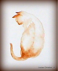 WATERCOLOR ''MAGIC KITTY'' (Louise001) Tags: cats art animals watercolor painting kittens watercolormagickitty