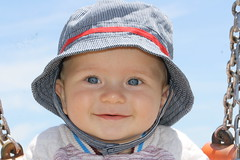 Jesse (Gib Rock Photography) Tags: blue portrait baby cute proud fun eyes smiles handsome son times nofilter justlikedaddy
