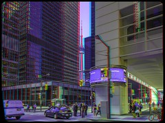 King Street West at Bay Street 3-D ::: HDR/Raw Anaglyph Stereoscopy (Stereotron) Tags: urban toronto ontario canada architecture modern america radio canon square eos stereoscopic stereophoto stereophotography 3d downtown raw control contemporary north citylife streetphotography kitlens twin anaglyph financialdistrict stereo stereoview to remote spatial 1855mm hdr province redgreen tdot 3dglasses hdri transmitter stereoscopy synch anaglyphic optimized in threedimensional hogtown stereo3d thequeencity cr2 stereophotograph anabuilder thebigsmoke synchron redcyan 3rddimension 3dimage tonemapping 3dphoto 550d torontonian stereophotomaker 3dstereo 3dpicture anaglyph3d yongnuo stereotron