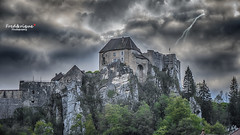 Impossible histoire... (Tra Te E Me (TTEM)) Tags: sky castle clouds photoshop ciel chateau hdr orage doubs clair