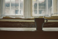 Morning ritual (Moesko Photography) Tags: morning home window coffee still curtain indoor mug analogue minolta7s