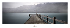 A Healthy Attitude Is Contagious.  But Don't Wait To Catch It From Others. Be A Carrier :-) (Maxwell Campbell) Tags: longexposure newzealand panorama mountains fog jetty nz southisland glenorchy