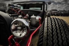 Hot Rod Rubber (Stubble Jumper Photography) Tags: red classic car automotive hotrod custom prewar flatblack
