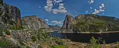 Hetch Hetchy Reservoir Panoramic, Yosemite National Park (Mastery of Maps) Tags: california park county ca sky lake mountains nature water rock clouds landscape nationalpark spring rocks view bluesky panoramic reservoir valley yosemite yosemitenationalpark sierranevada tuolumne hetchhetchy 2016 manmadelake recreationarea kolanarock