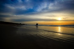 Riding to the sea - Tel-Aviv beach (Lior. L) Tags: sea horse beach silhouette surreal riding minimalism surrealistic