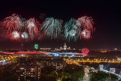 Fireworks over Moscow.jpg (Vladimir_Parfenov) Tags: architecture night landscape view fireworks russia moscow sityscape