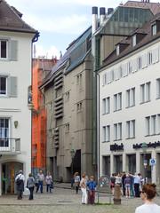 Breuninger Freiburg, IV (Twizzer88) Tags: germany deutschland badenwrttemberg brutalism brutalist concrete architecture modernism modernist brd frg freiburg juxtaposition contrast oldandnew