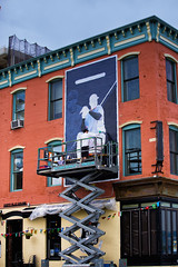 Yankees (Always Hand Paint) Tags: blue sports advertising mural colorful outdoor progress ooh handpaint yankees colossal wallscape colossalmedia b174 muraladvertising skyhighmurals alwayshandpaint kristamlindahl yankeesprogress