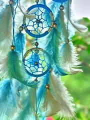 Dreamcatcher (Aur Bel) Tags: blue peace bokeh dream extrieur dreamcatcher plumes rve attrapeur